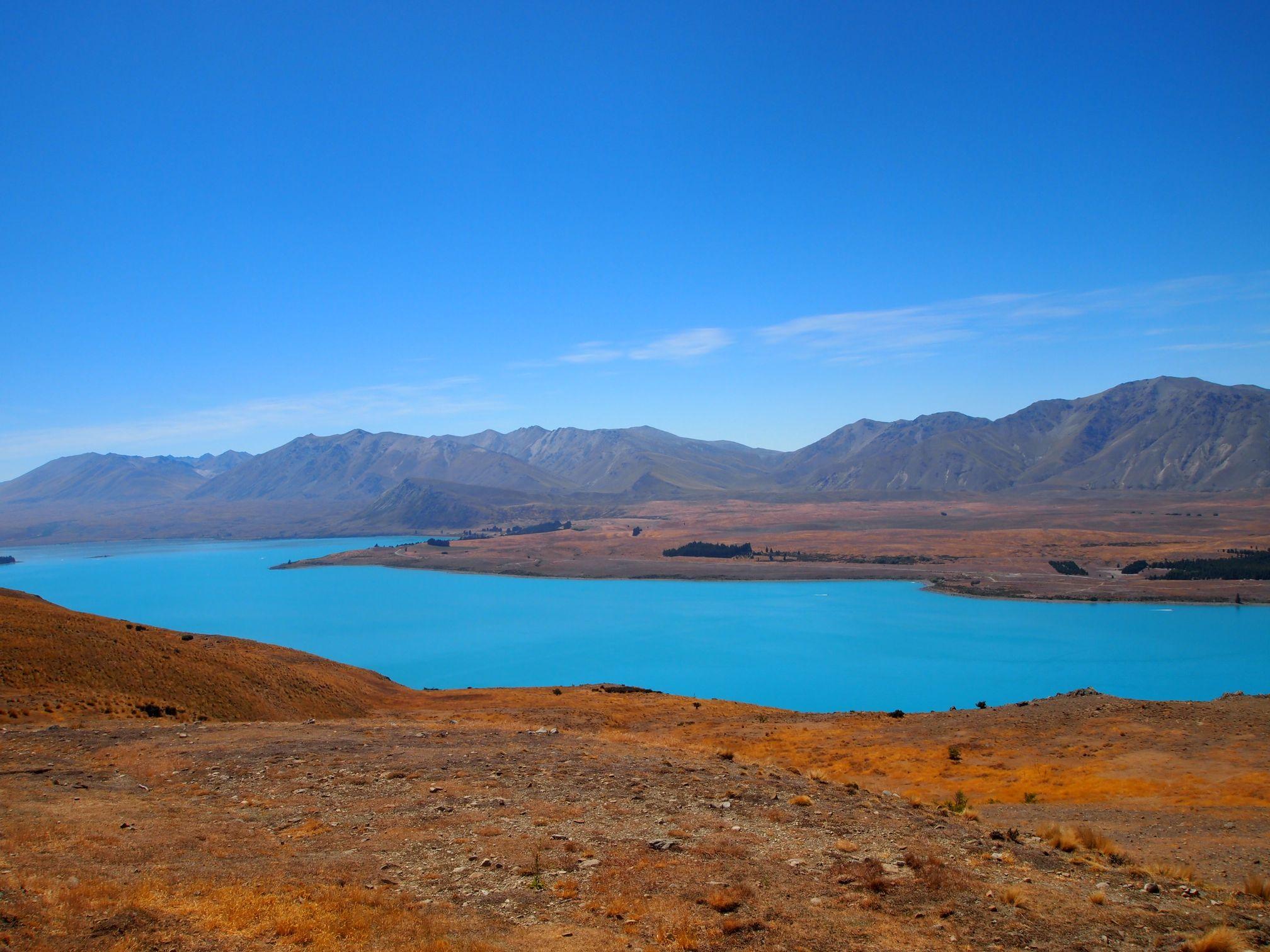 Lac Tekapo - Ici et la en famille